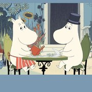 Moomin Riviera garden table, Greeting Card