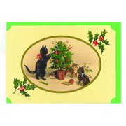 CHRISTMAS CATLAND-Tree, notecard