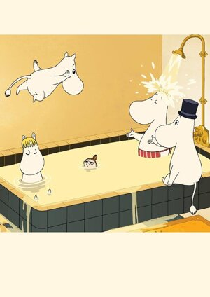 Moomin Riviera bath, Greeting Card