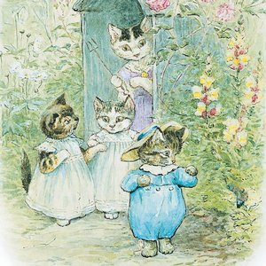 Beatrix Potter square kittens, Greeting Card
