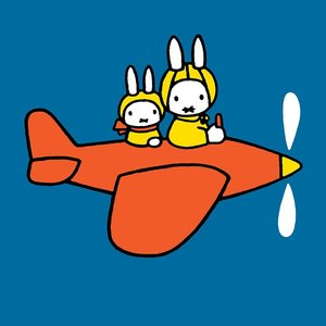 Miffy square plane, Greeting Card