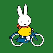 Miffy square bicycle, Greeting Card