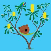 Mouk square tree, Greeting Card