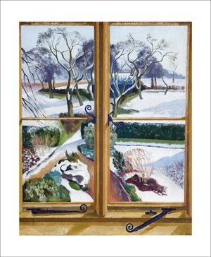 The Garden Under Snow by John Nash, Greeting Card