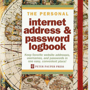 Old World Personal Internet Address & Password Logbook