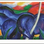 The Large Blue Horses (1911), Franz Marc, Greeting Card