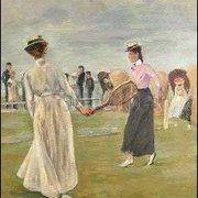 Tennis Players at the Seashore, first version (Detail) (1901), Max Liebermann, Greeting Card
