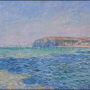 Shadows on the Sea, the Cliffs at Pourville (1882), Claude Monet, Greeting Card