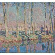 Jean-Pierre Hoschedé and Michel Monet on the Banks of the Epte, Claude Monet, Greeting Card