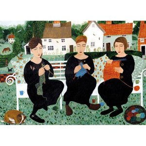 Village Knitters, Greeting Card