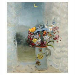 Flowers by Moonlight, Greeting Card