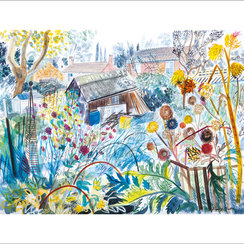 Allotment with Cardoons, Greeting Card