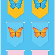Butterflies i-clips Magnetic Bookmark