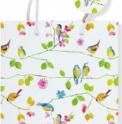 Watercolor Birds Deluxe Gift Bag