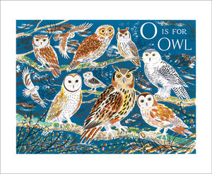 O is for Owl, Greeting Card