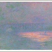 Waterloo-Bridge, London, at Sunset (1904), Claude Monet, Greeting Card