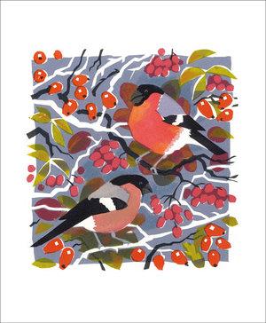 Bullfinches, Greeting Card