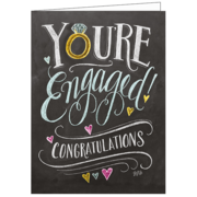 Engaged, Lily & Val, Greeting Card
