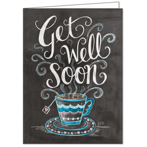 Get Well Soon, Lily & Val, Greeting Card