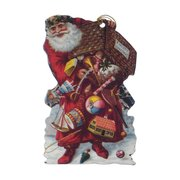 VICTORIAN DIE-CUT-Santa and Christmas Pudding, tags