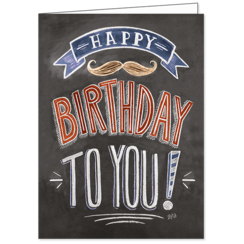 Happy Birthday Male, Lily & Val, Greeting Card