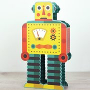 Robot, 3D Greeting Card