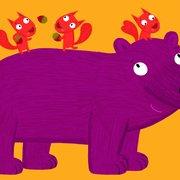 CHOUX L ours et les ecureuil, Postcard