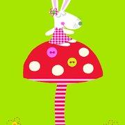 CHAUVET Le lapin au pays des c, Postcard