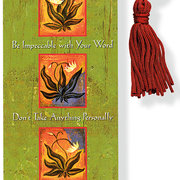 Beaded Bookmark, Four Agreements