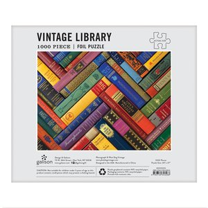 Phat Dog Vintage Library 1000 Pieces Foil Stamped Puzzle