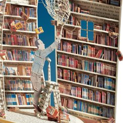 The Book Collector Lasercut Card