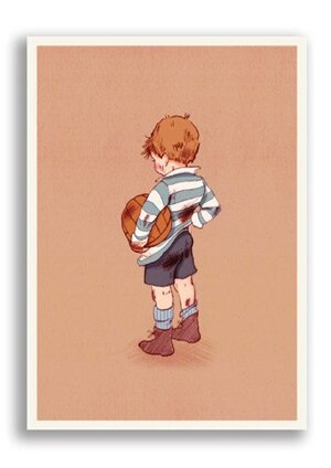 Football, Belle & Boo Playtime Postcards