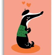 Badger, Darling Clementine Postcards