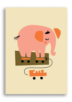 Elephant, Darling Clementine Postcards