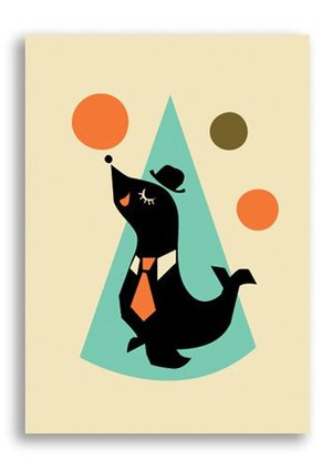 Seal, Darling Clementine Postcards