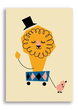 Lion, Darling Clementine Postcards