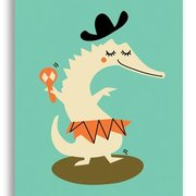 Crokodile, Darling Clementine Postcards