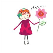 Thank you girl, Greeting Card