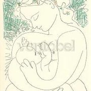 Picasso/Mother & Child, Greeting Card