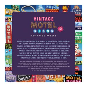 Vintage Motel Signs 500 Piece Puzzle