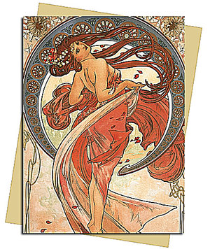 Mucha: The Arts, Dance, Greeting Card