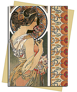 Mucha: Cowslip, Greeting Card