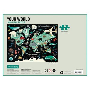 Map Of The World 1000pc Family Puzzle
