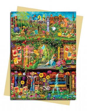 Garden Bookshelves, Greeting Card (Foiled)