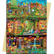 Garden Bookshelves, Greeting Card (Foiled)