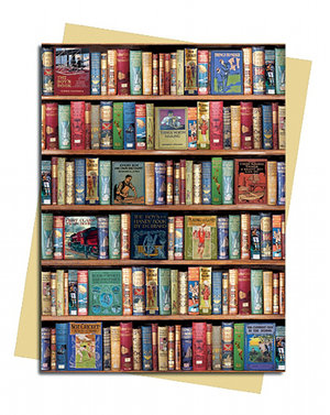 Bodleian Libraries: Hobbies and Pastimes Bookshelves, Greeting Card (Foiled)