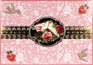 Decoupage Victoriana/Doves, notecard
