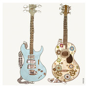 2 Guitars, Greeting Card