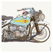 Harley Bike, Greeting Card