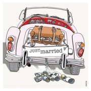 Wedding Car, Greeting Card